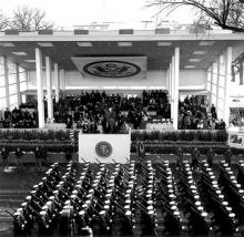 Inaugural Parade, 1961. Photo courtesy of John F. Kennedy Presidential Library