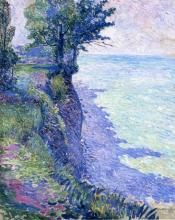 William Sommer. 'Lake Erie Cliff, Lakewood', 1911. Oil on canvas, Robert and Diane Sakuta