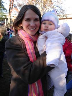 McCain Supporters Laura Eland and 7-month-old baby daughter