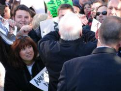 McCain shaking hands with the crowd