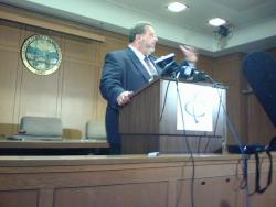Dimora, speaking to reporters at a hastily-called press conference Monday