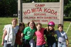 Campers at Ho Mita Koda pose for the camera.