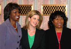 Special Commission members Teresa Beasley, Megan O'Brien and Mary Bounds