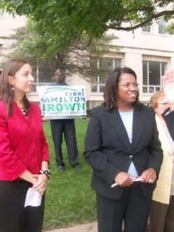 Hamilton Brown receives endorsements in Cleveland on Wednesday.