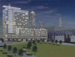 A rendering of the planned Flats East Bank project. (From: www.flatseast.com)