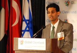 Baiju Shah announces the creation of the Global Cleveland Welcome Hub