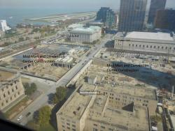 Cleveland Medical Mart construction viewed from the 18th floor of the Justice Center