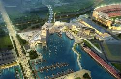 Mock-up of proposed development to Lake Erie waterfront.