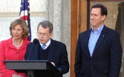 Ohio Attorney General Mike DeWine switched his endorsement from Mitt Romney to Rick Santorum last week (pic by Jo Ingles)