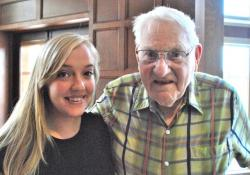 Heidi Klise and her Grandfather, Winthrop Worcestor