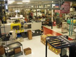 The production floor of Venture Plastics Inc., in Newton Falls, Ohio (pic by Brian Bull).