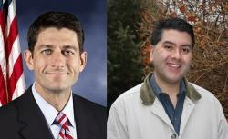Official photo of Rep. Paul Ryan (R-WI); Ideastream's Brian Bull, who covered Wisconsin prior to moving to Ohio.