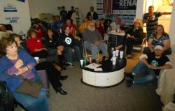 Roughly four dozen Republicans gathered to watch the debate between President Obama and challenger Mitt Romney (pic by Brian Bull)