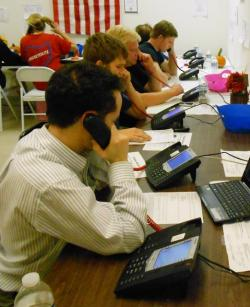 The Romney Victory Center in Fairfield Park also hosted a phone bank that same evening (pic by Brian Bull)