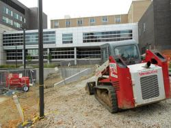 Construction equipment outside Wade Park facility (pic by Brian Bull)