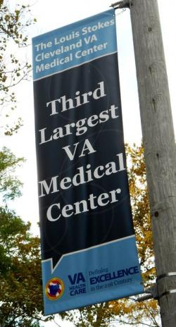 Banner for Louis Stokes VA Medical Center (pic by Brian Bull)