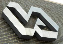 VA logo outside Louis Stokes Veterans Affairs Medical Center (pic by Brian Bull)