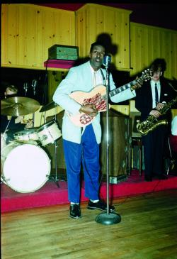 Chuck Berry at Gleason's Show Bar by Tom Edwards