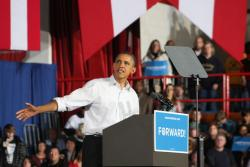 President Obama in Mentor (Photo by Brian Bull)