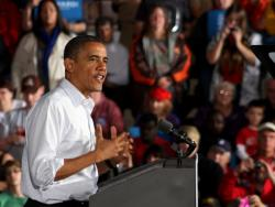 President Barack Obama in Mentor, Ohio (Photo by Brian Bull)