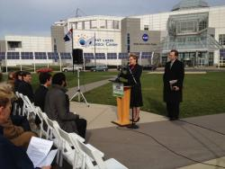Rep. Marcy Kaptur and Cuyahoga County Executive Ed FitzGerald promote the renewable energy production tax credit.