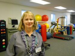 Dr. Tricia Martin, inside the Cleveland Clinic's rehab center in Middleburg Heights (pic by Brian Bull).