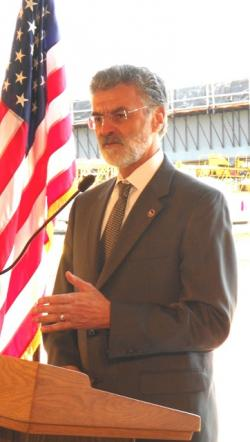 Cleveland Mayor Frank Jackson, at today's event (pic by Brian Bull)