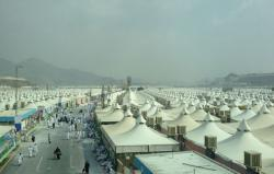 An endless sea of tents helps accomodate the millions of pilgrims