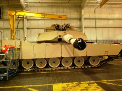 An M1 Abrams ready to be sent out from the JSMC (pic by Brian Bull).
