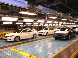 Hondas, ready to be sent  to dealerships. Honda was among 20 brands seeing increased sales last year (pic by Brian Bull)