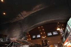 The darkened ceiling of the West Side Market (photo: Rugger Fatica, City of Cleveland)