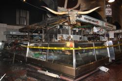 One of the damaged vendor stands (photo: Rugger Fatica, City of Cleveland)