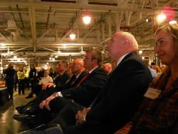Ford executives, union representatives, workers, and politicians attended today's event (pic by Brian Bull)