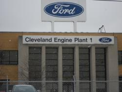The front of the Ford Engine Plant in Brook Park, Ohio (pic by Brian Bull)