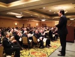 Texas Sen. Ted Cruz speaks to Ohio Republicans in Cuyahoga County.