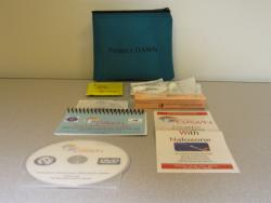 Naloxone kit includes prefilled syringes, nasal converter, an instructional DVD and quick reference guide.