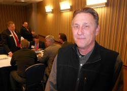 Rick Drury, President of Drury Southwest Inc., after his company won top bid at today's auction (pic by Brian Bull)