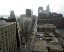 The last stretch of the Euclid Corridor winds through downtown Cleveland (pic by Brian Bull)
