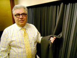 Tailor Joe Scafidi, who questions the cost and benefit of the Euclid Corridor Project to this day (pic by Brian Bull)