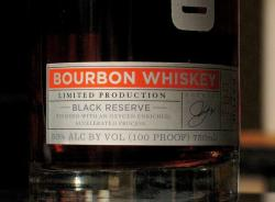 A close-up of the Cleveland Whiskey label.  It debuted in early March across Northeast Ohio (pic by Brian Bull)