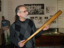 Bob Zimmer of Cleveland's Baseball Heritage Museum in the 5th Street Arcades