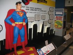 A new Superman display at Cleveland's airport informs people about his ties to the city (pic by Brian Bull)