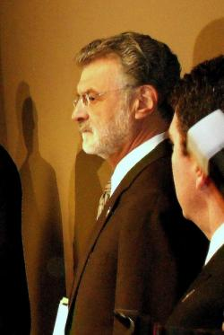 Mayor Frank Jackson at today's press conference (pic by Brian Bull)