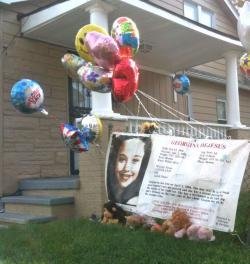 Balloons, banners and a standing ovation greeted Gina DeJesus when she returned home.
