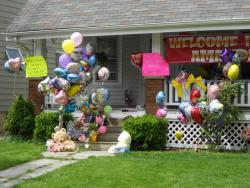 Gifts adorn front of Berry home (pic by Brian Bull)