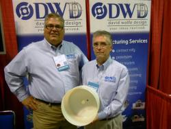 DWD President, David Wolfe and design manager Doug Pryor at the recent Manufacturing Mart (pic by Brian Bull)
