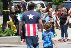 Clevelanders gather outside the Lorain Bridge to watch more filming of the Captain America flick (pic by Brian Bull)