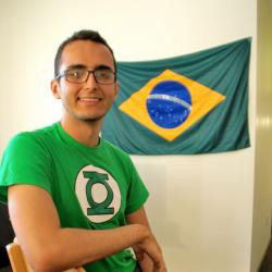 CWRU student and Green Lantern fan, Andre Diniz