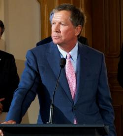 Governor John Kasich.  photo by Brian Bull