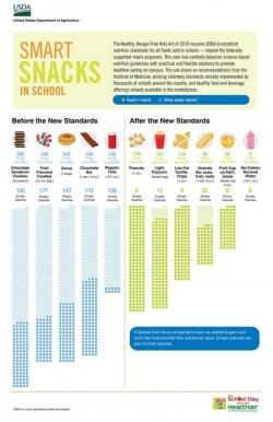 The USDA's Smart Snacks guide for schools.